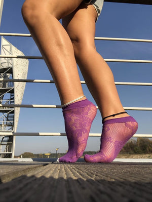 Deep Purple Mesh Socks - Global Trendz Fashion®