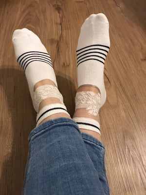 White Rose Lace Sheer Socks - Global Trendz Fashion®