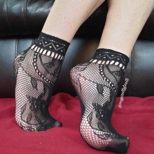 Wild Floral Ankle Mesh Socks - Global Trendz Fashion®