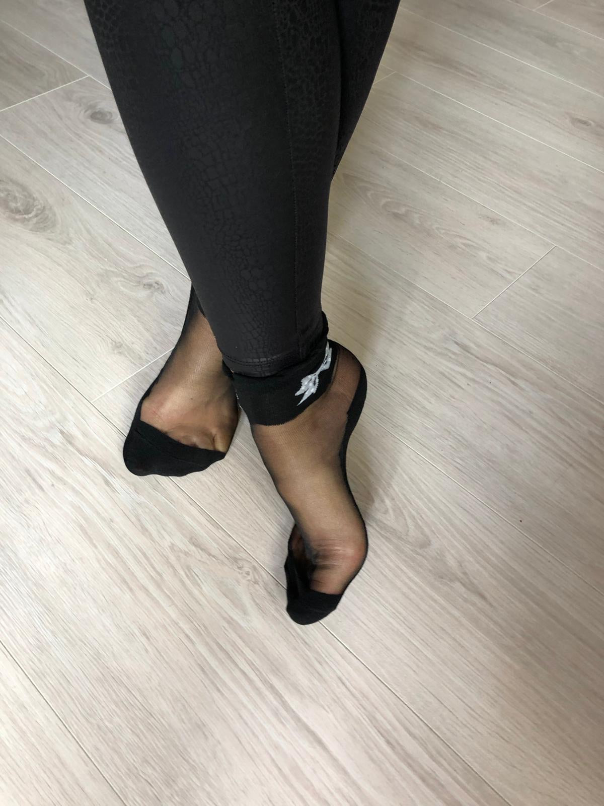 Cute Bow Black Sheer Socks - Global Trendz Fashion®