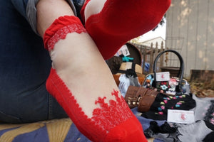 Sharp Red Sheer Socks - Global Trendz Fashion®