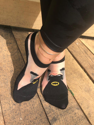Batman Black Ankle Sheer Socks - Global Trendz Fashion®