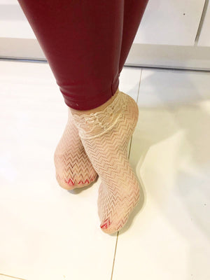 Sleek Beige Mesh Socks - Global Trendz Fashion®
