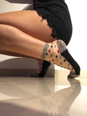 Multi Dotted Sheer Socks - Global Trendz Fashion®