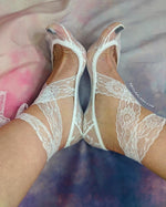 Porcelain Ankle Mesh Socks with long Mesh Strap - Global Trendz Fashion®