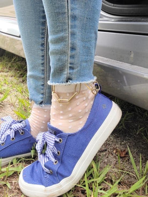 Polka Dot Hip Hop Socks with Chain