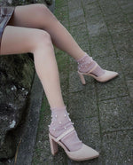 Pearled Pink Tulle Socks - Global Trendz Fashion®