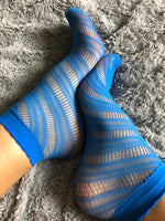 Charming Blue Mesh Socks - Global Trendz Fashion®