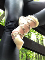 Stunning Black/Yellow patterned Sheer Socks