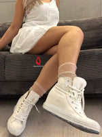 White Tulle Socks with crystals - Global Trendz Fashion®