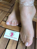 Beige Lace Fishnet Socks - Global Trendz Fashion®