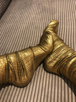 Golden Reflective Socks