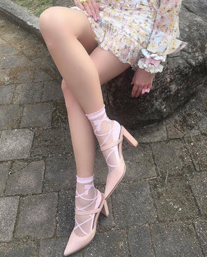 Pink Bow Sheer Socks - Global Trendz Fashion®