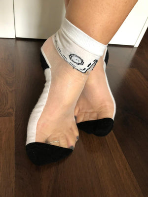 Elegant White Sheer Socks - Global Trendz Fashion®