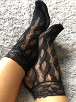 Sepal Black Mesh Socks - Global Trendz Fashion®