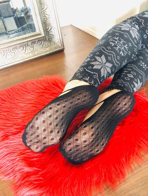Jet Black Ankle Mesh Socks - Global Trendz Fashion®