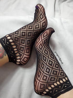 Black Ankle Mesh Socks - Global Trendz Fashion®