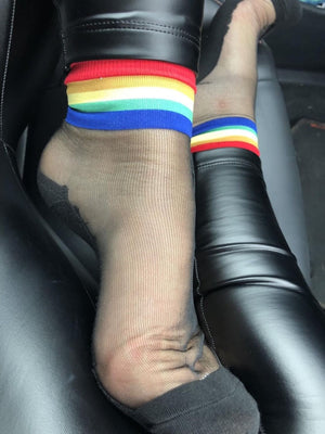 Multi Color Striped Sheer Socks - Global Trendz Fashion®