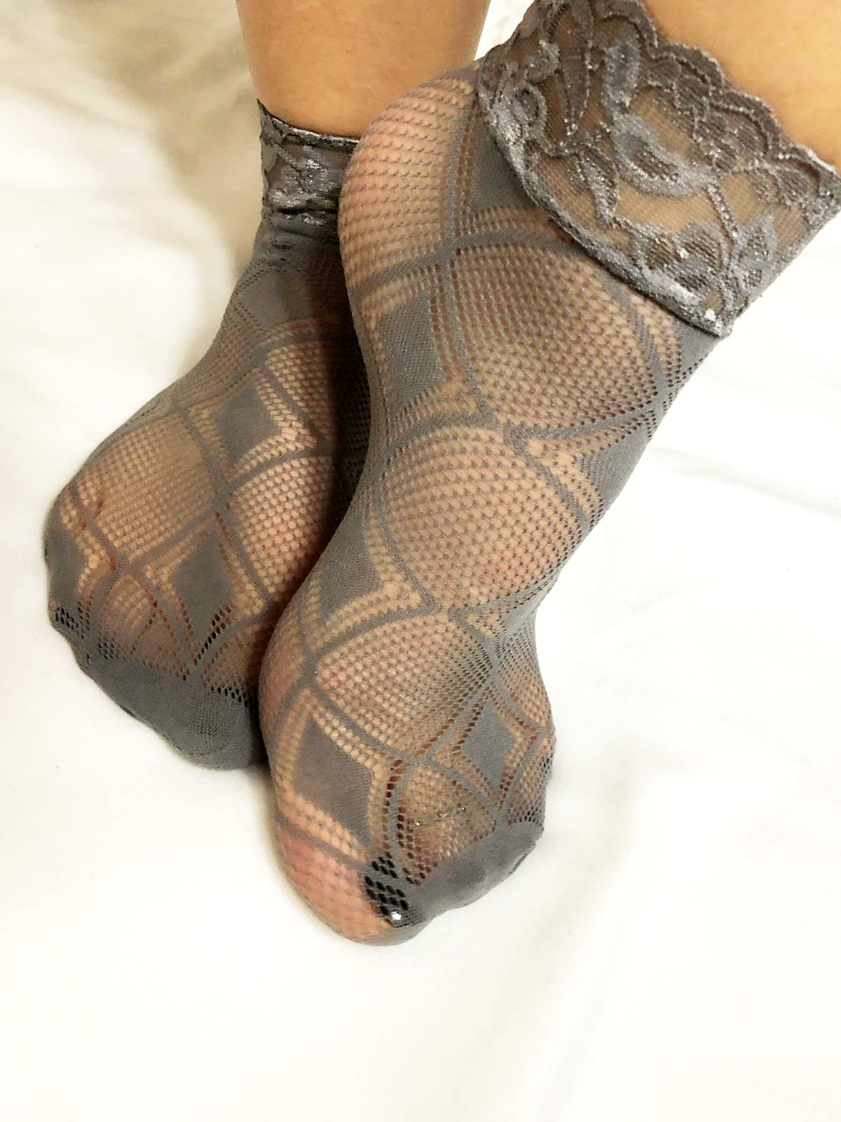 Snake Grey Mesh Socks - Global Trendz Fashion®
