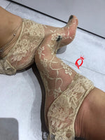 Golden Mesh Socks with edging lace - Global Trendz Fashion®