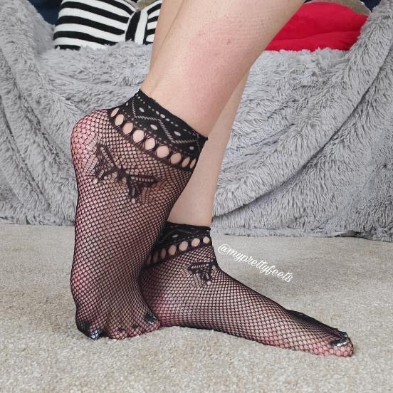 Swallowtail Black Ankle Mesh Socks - Global Trendz Fashion®