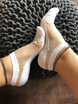 Cool White Sheer Socks - Global Trendz Fashion®