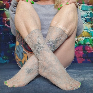 Smoke Grey Mesh Socks - Global Trendz Fashion®