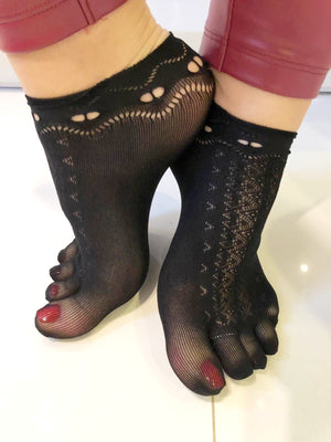 Black-night Toe Mesh Socks - Global Trendz Fashion®