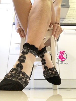 Breathtaking Black Sheer Socks - Global Trendz Fashion®