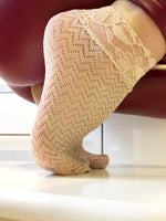 Sleek Beige Mesh Socks
