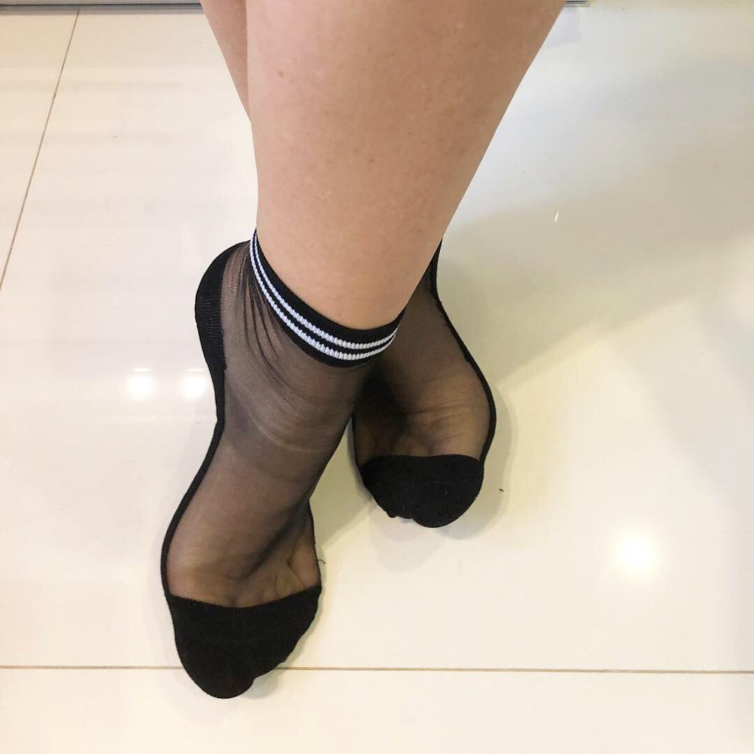 White Striped Ankle Sheer Socks - Global Trendz Fashion®