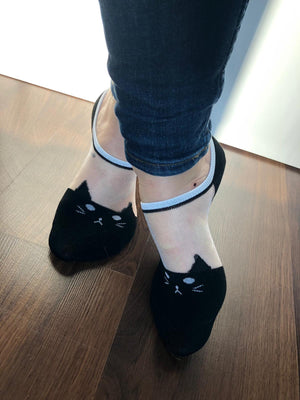 Adorable Black Cat Ankle Sheer Socks - Global Trendz Fashion®