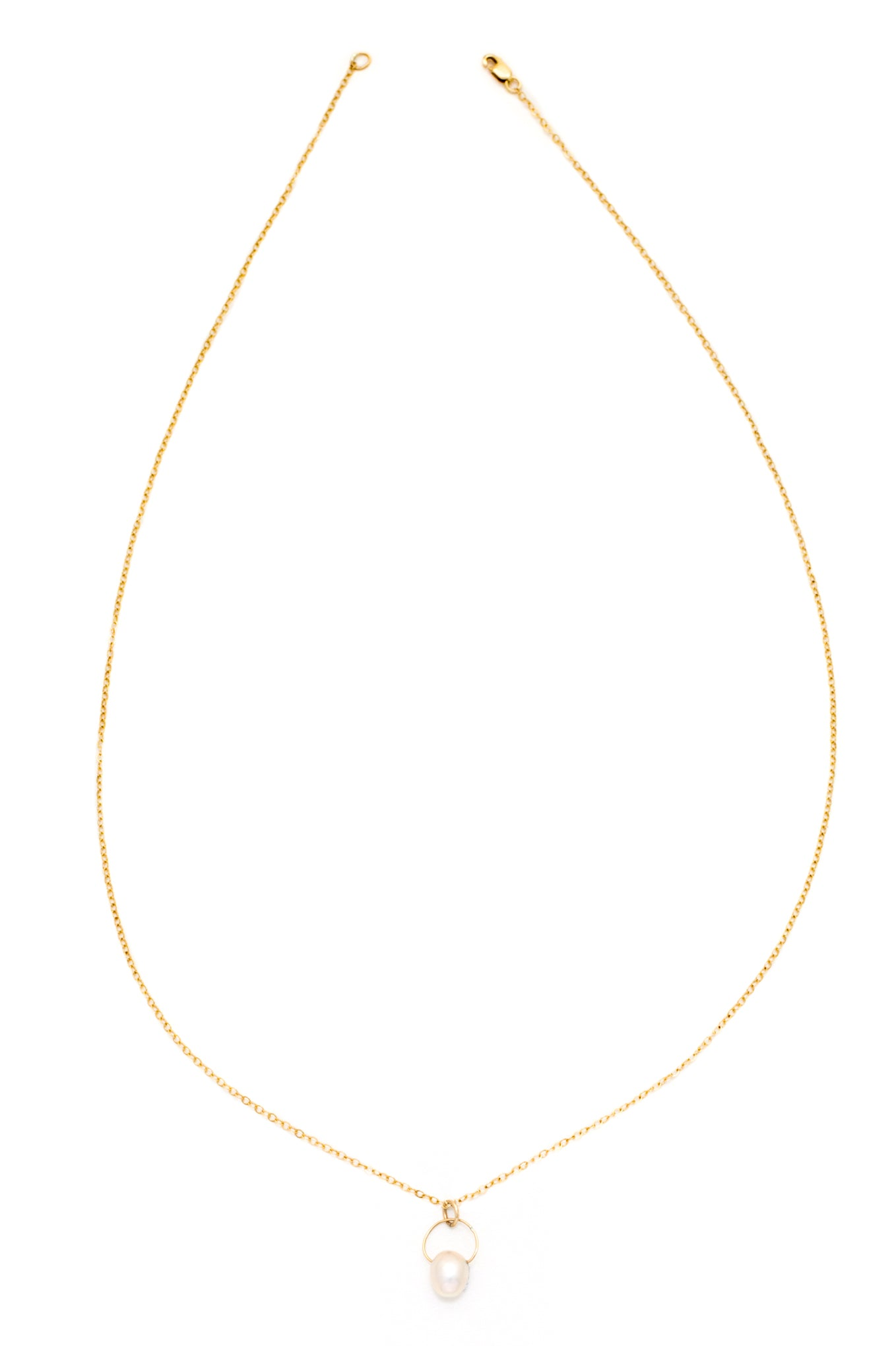 Princess Pink Champagne Pearl Necklace (Gold)