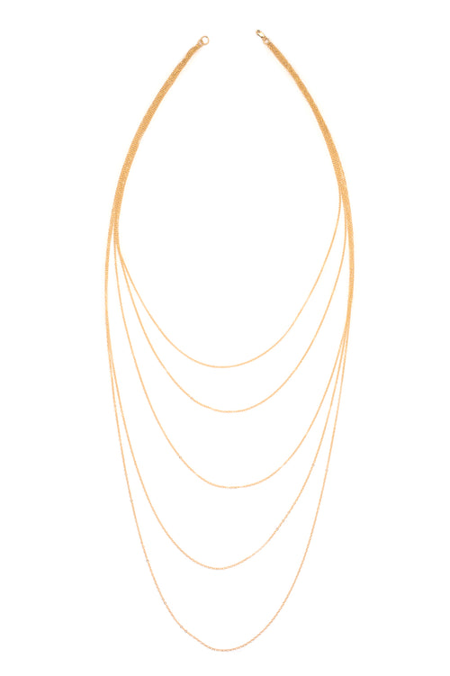 Cascade of Blessing Necklace (Gold)