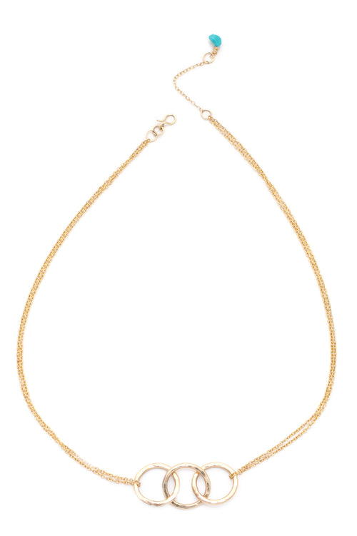 Multistrand Love is all Encompassing Trio Necklace