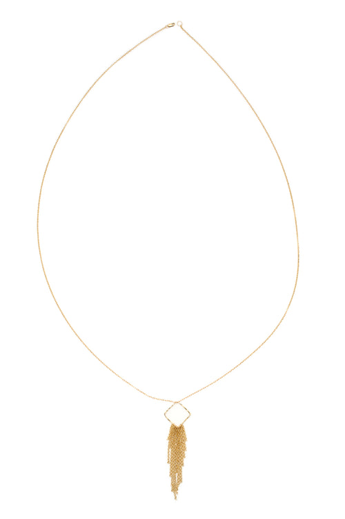 Focus Cascade of Blessing Crystal Necklace (Gold)