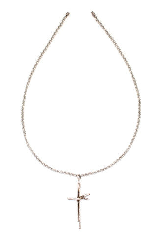 Happy Heart Swarovski Crystal Necklace (Silver)