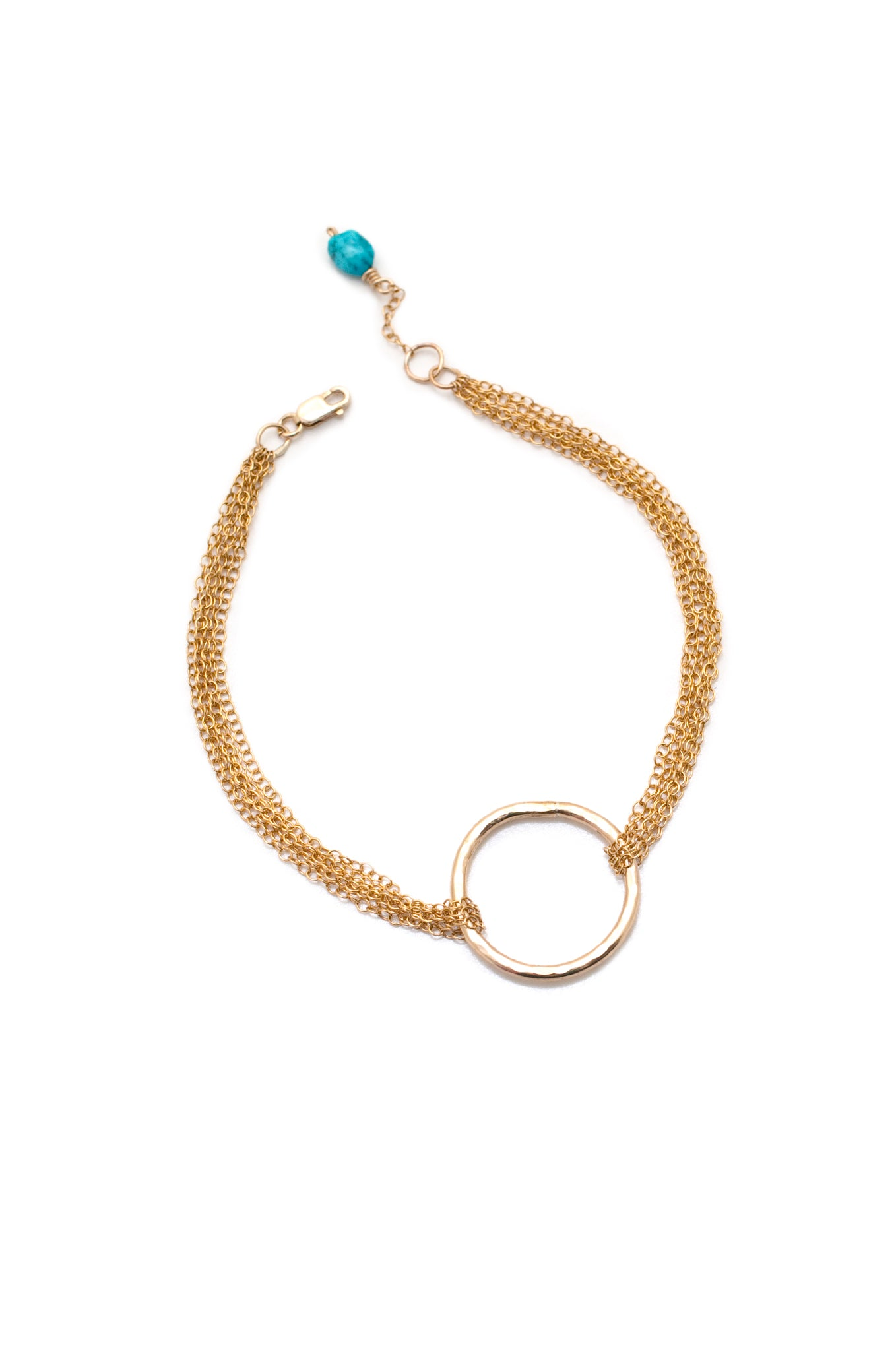Multistrand Love is all Encompassing Gold Bracelet