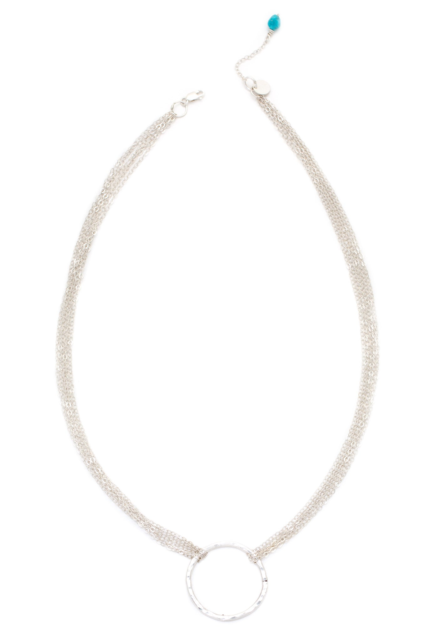 Multistrand Love is all Encompassing Necklace (Silver)