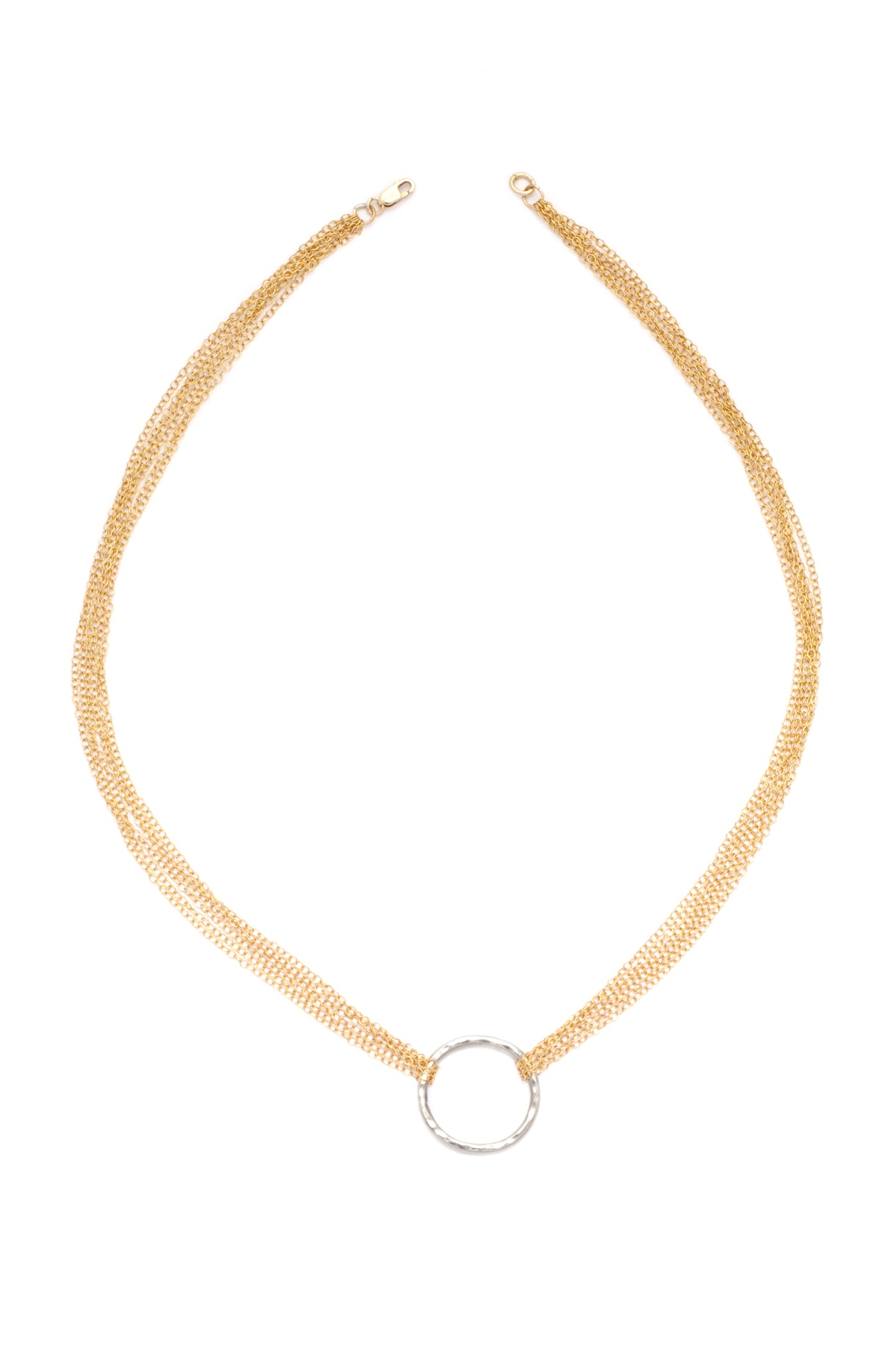 Multistrand Love is all Encompassing Necklace (Gold)