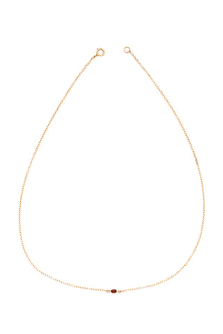 Happy Heart Swarovski Crystal Necklace (Gold)