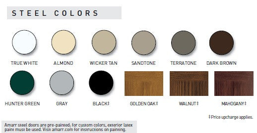 Bon Amarr Garage Doors Color Chart
