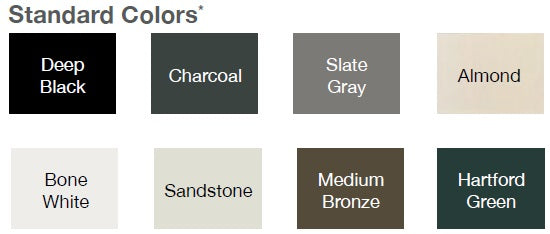 CHI garage Doors Standard Color Chart