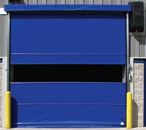 Commercial 12 X 12 Vinyl Pro Roll Up Door Using Chain Hoist Fabric Door Ebay