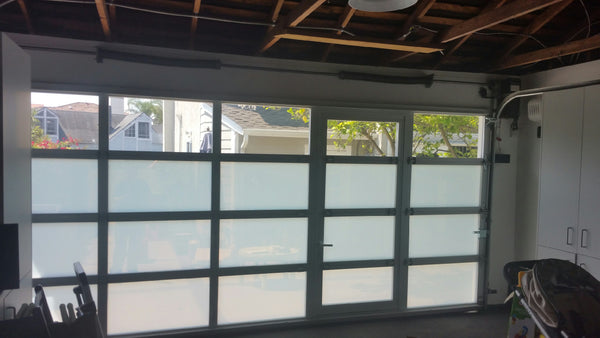 Contemporary Aluminum Amp Clear Tempered Glass Garage Door