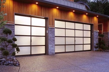 Marvelous Contemporary Aluminum U0026 Frosted Tempered (Privacy) Glass Garage Door