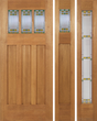 Amber - Craftsman Design Mahogany Wood Door with Beveled Glass