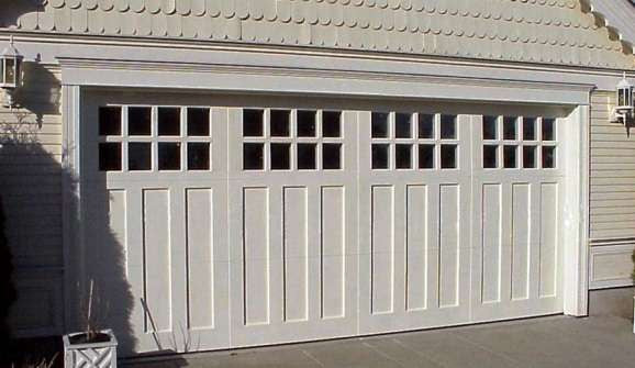 Aspen Craftsman Style Custom Wood Garage Door Lux