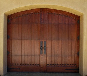 Artesia   Spanish Style Custom Wood Garage Door