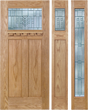 Audrey - Craftsman Design Oak Wood Door with Beveled Glass